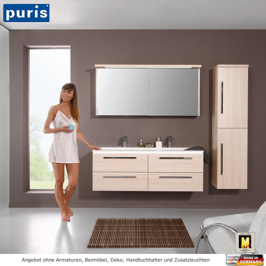 puris star line badm bel als set 140 cm mit schiebet ren im spiegelschrank impulsbad. Black Bedroom Furniture Sets. Home Design Ideas