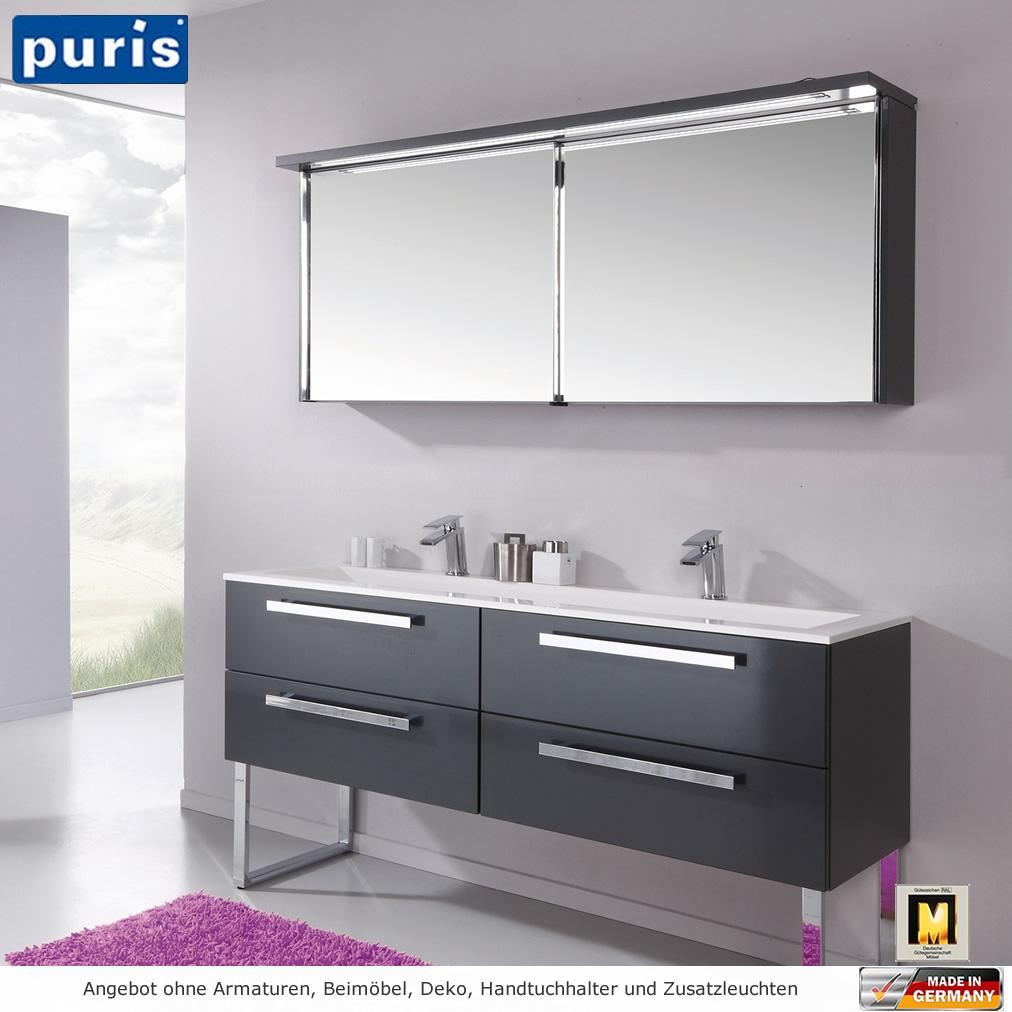 puris star line badm bel als set 160 cm spiegelschrank mit schiebet ren impulsbad. Black Bedroom Furniture Sets. Home Design Ideas