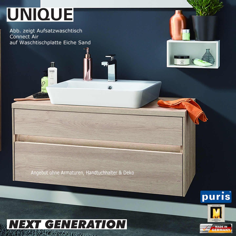 puris unique waschtisch set 100 cm connect air impulsbad. Black Bedroom Furniture Sets. Home Design Ideas
