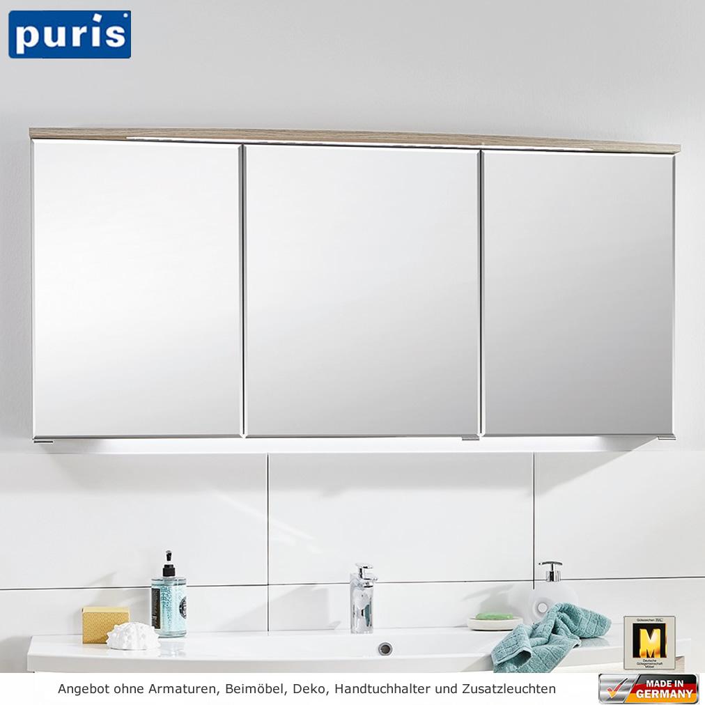 puris vuelta spiegelschrank mit led im gesimsboden 120 cm impulsbad. Black Bedroom Furniture Sets. Home Design Ideas