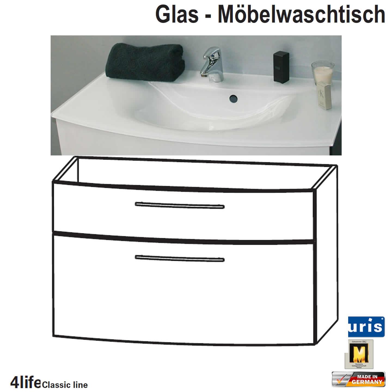 puris classic line badm bel als glas waschtisch set 70 cm 2 ausz ge impulsbad. Black Bedroom Furniture Sets. Home Design Ideas