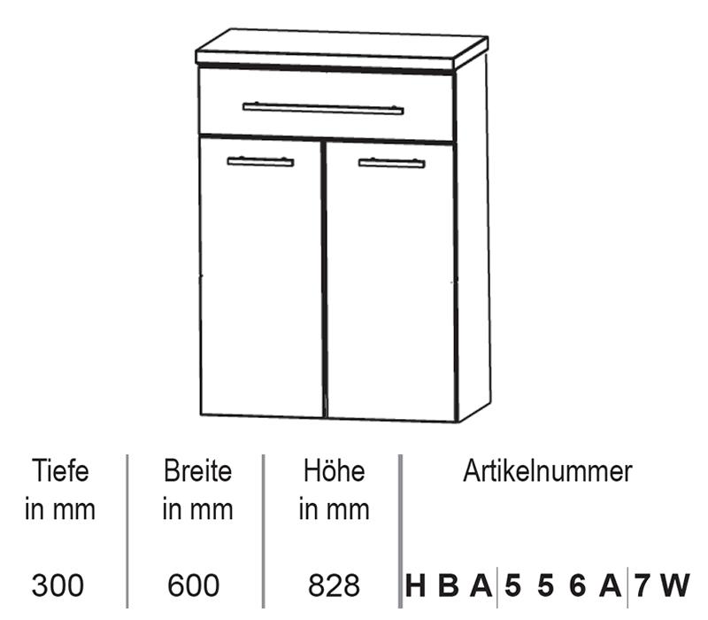 puris crescendo badm bel highboard mit w schekippe 60 cm impulsbad. Black Bedroom Furniture Sets. Home Design Ideas