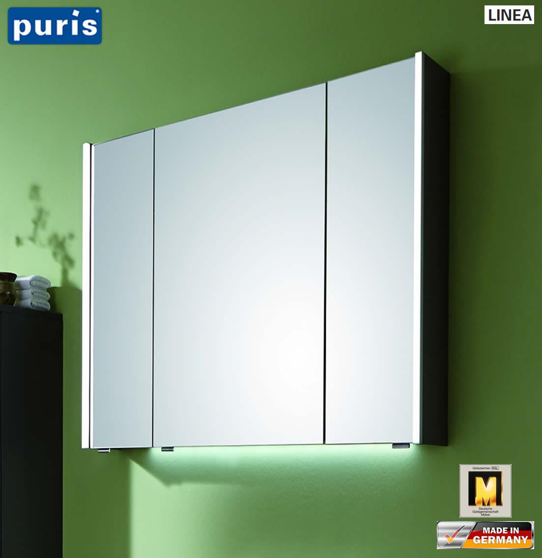puris linea spiegelschrank 70 cm mit seitlichen led profilen s2a437079 impulsbad. Black Bedroom Furniture Sets. Home Design Ideas