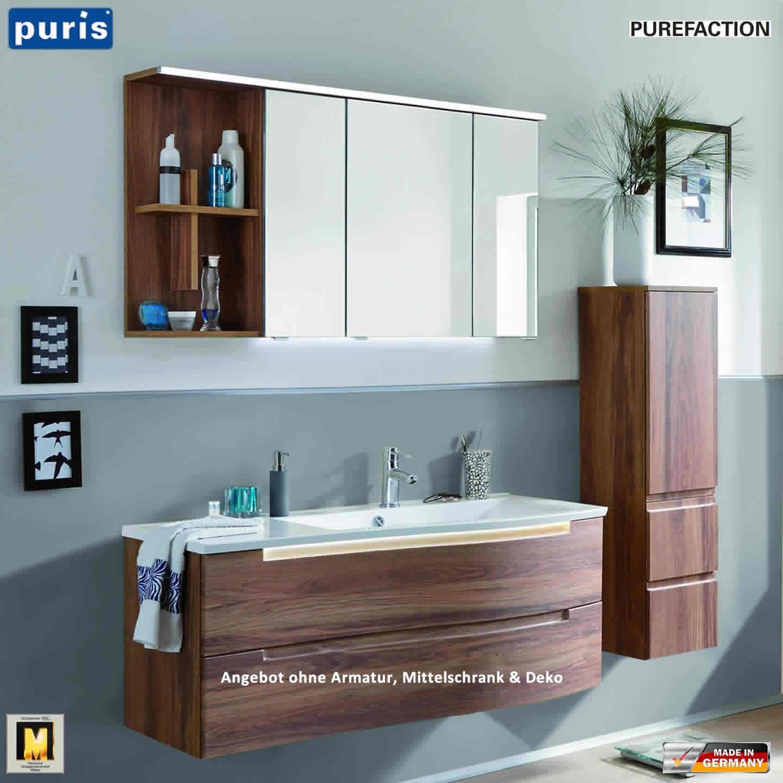 puris purefaction badm bel als set 120 cm links version. Black Bedroom Furniture Sets. Home Design Ideas