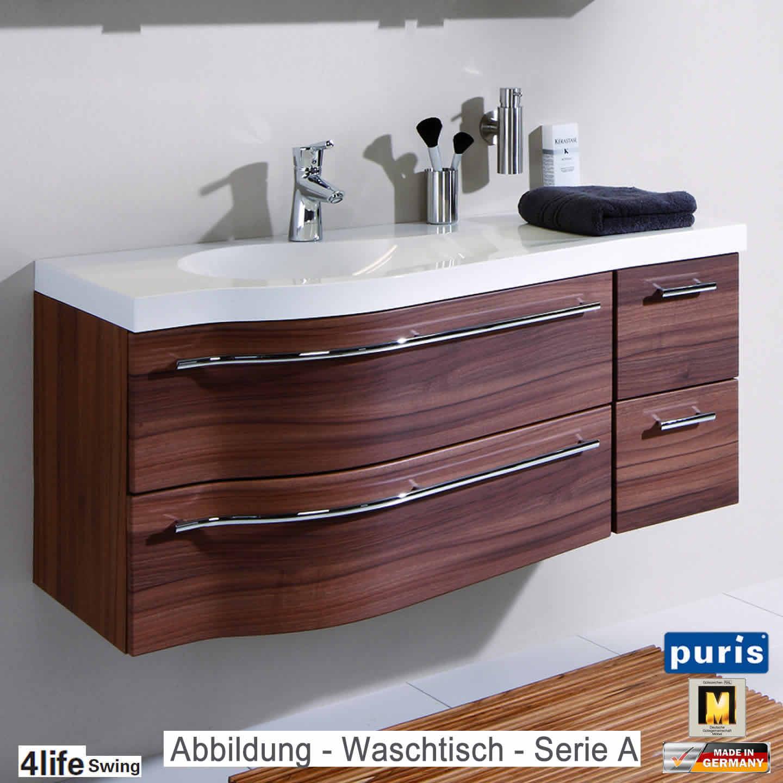 Puris 4life Swing Badmöbel Als Waschtisch Set 120 Cm   Serie A Oder B (