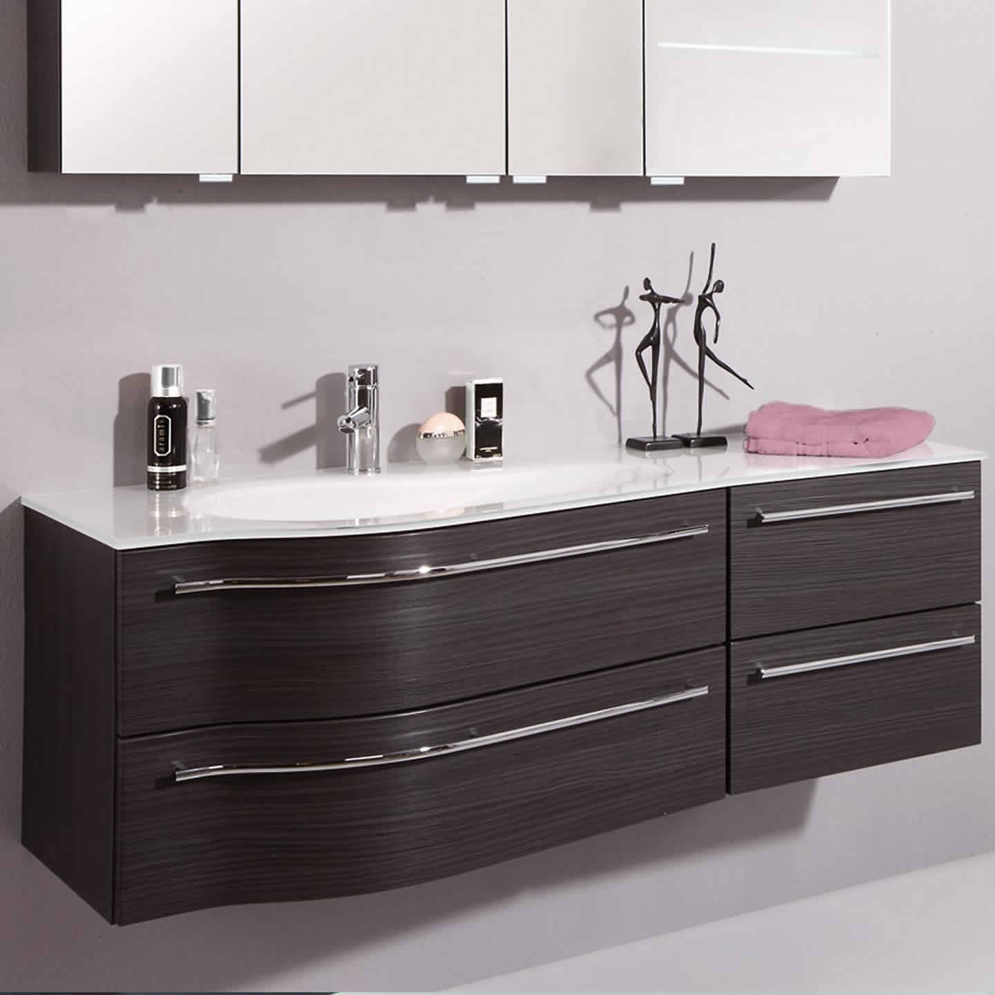waschtisch 140 cm breit badm bel set cardiff mit. Black Bedroom Furniture Sets. Home Design Ideas