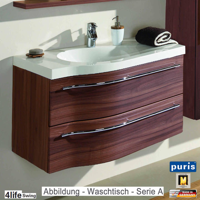 Puris 4life Swing Badmöbel als Waschtisch-Set 90 cm - Serie A oder B ...