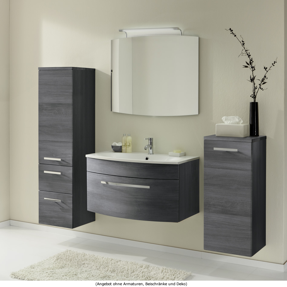 marlin badm bel als set scala mit spiegel und waschtischbeleuchtung 90 cm impulsbad. Black Bedroom Furniture Sets. Home Design Ideas