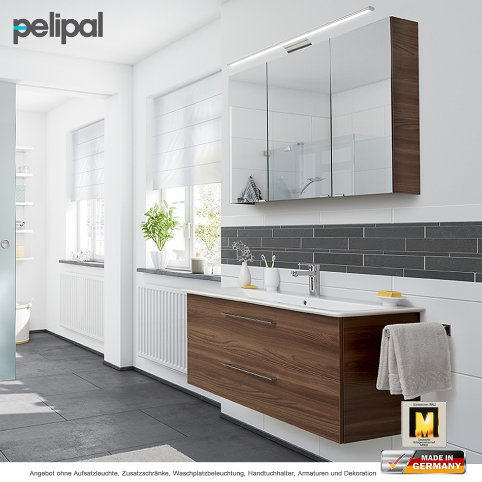 pelipal solitaire 9005 badm belset 100 cm mit spiegelschrank doppelt verspiegelt und. Black Bedroom Furniture Sets. Home Design Ideas