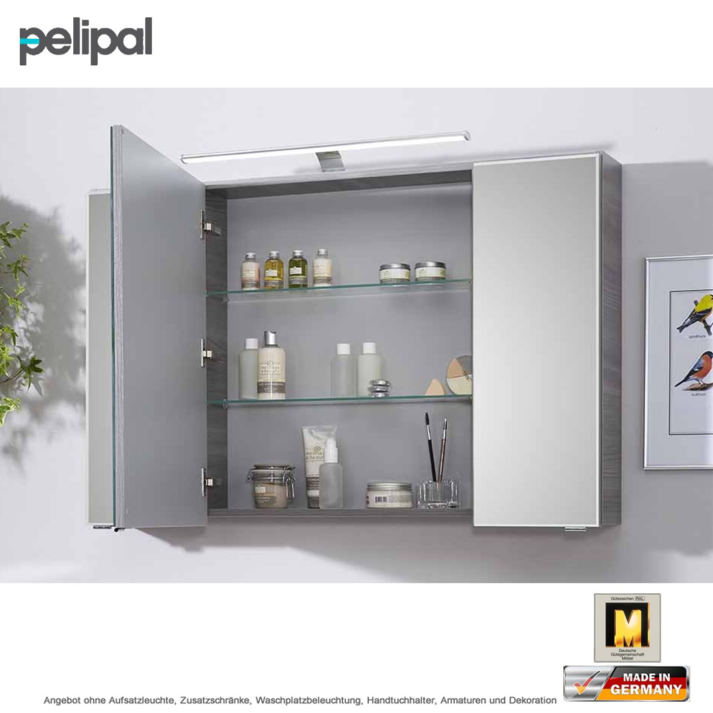 pelipal solitaire 6110 spiegelschrank 110 cm impulsbad. Black Bedroom Furniture Sets. Home Design Ideas