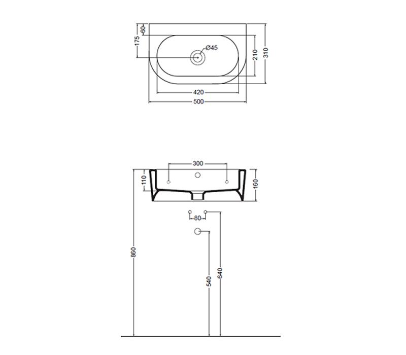 flero benina design handwaschbecken aus italien impulsbad. Black Bedroom Furniture Sets. Home Design Ideas