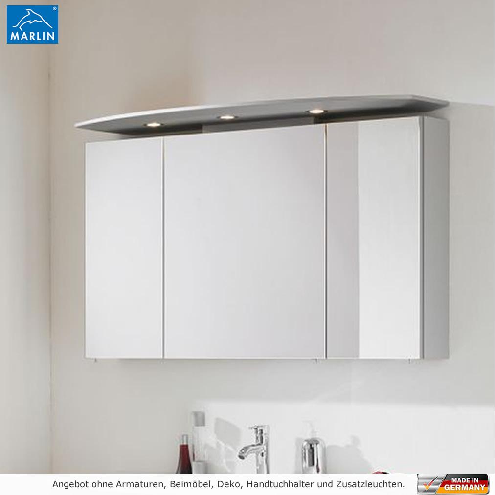 Marlin 3040 city plus spiegelschrank 120 cm mit led for Spiegelschrank 120