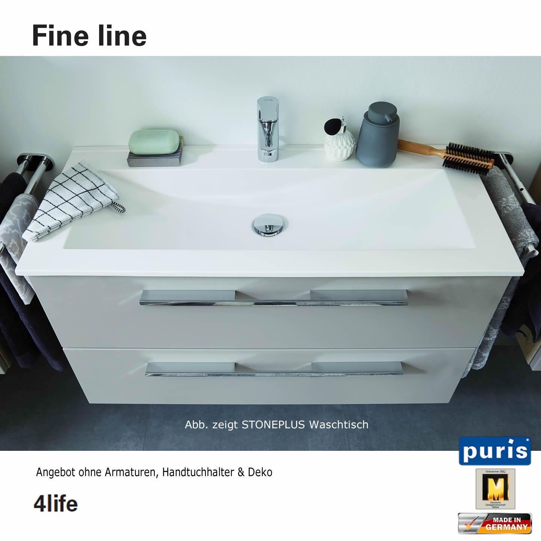 puris fine line waschtisch set 90 cm mineralguss impulsbad. Black Bedroom Furniture Sets. Home Design Ideas
