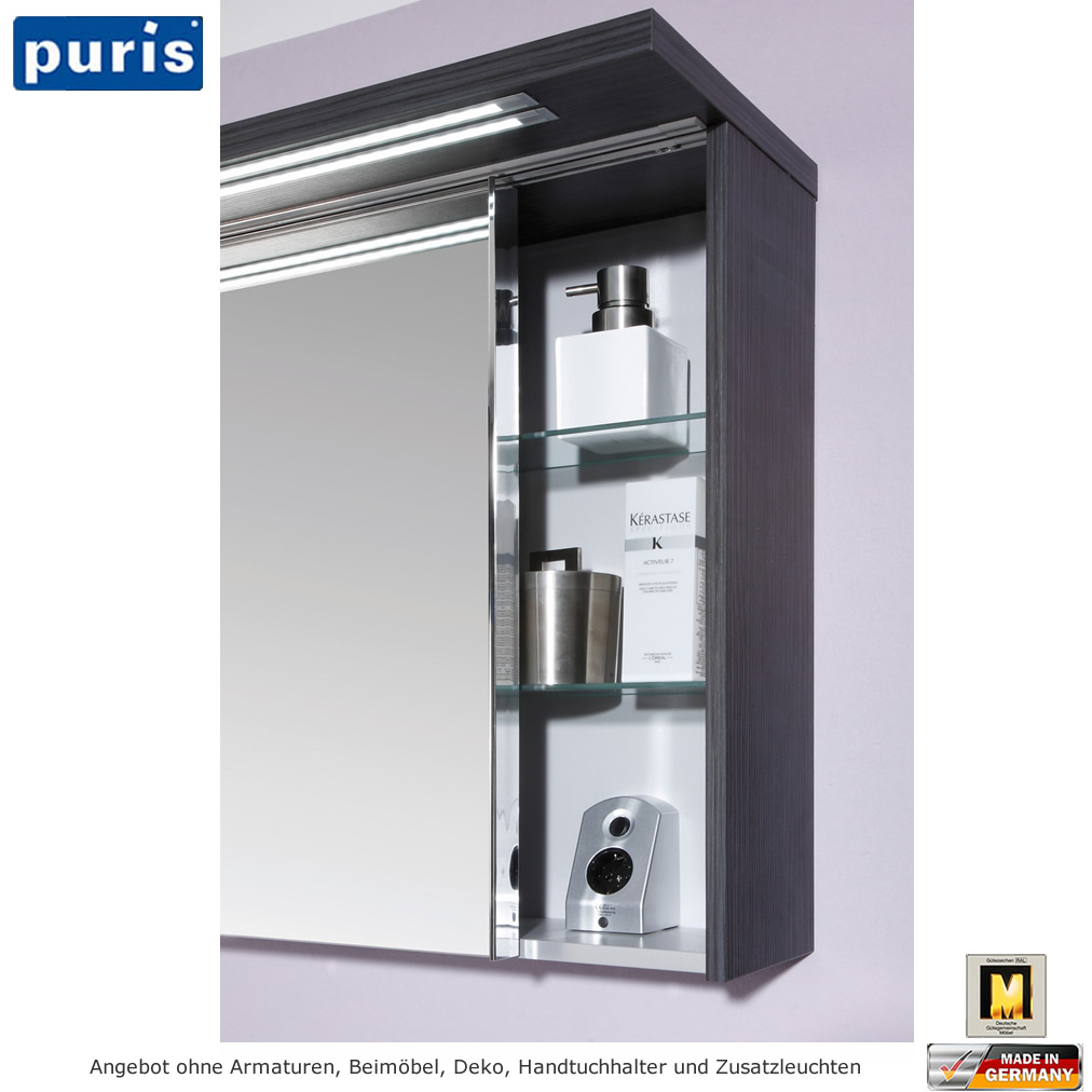 puris star line 2d spiegelschrank 160 cm impulsbad. Black Bedroom Furniture Sets. Home Design Ideas