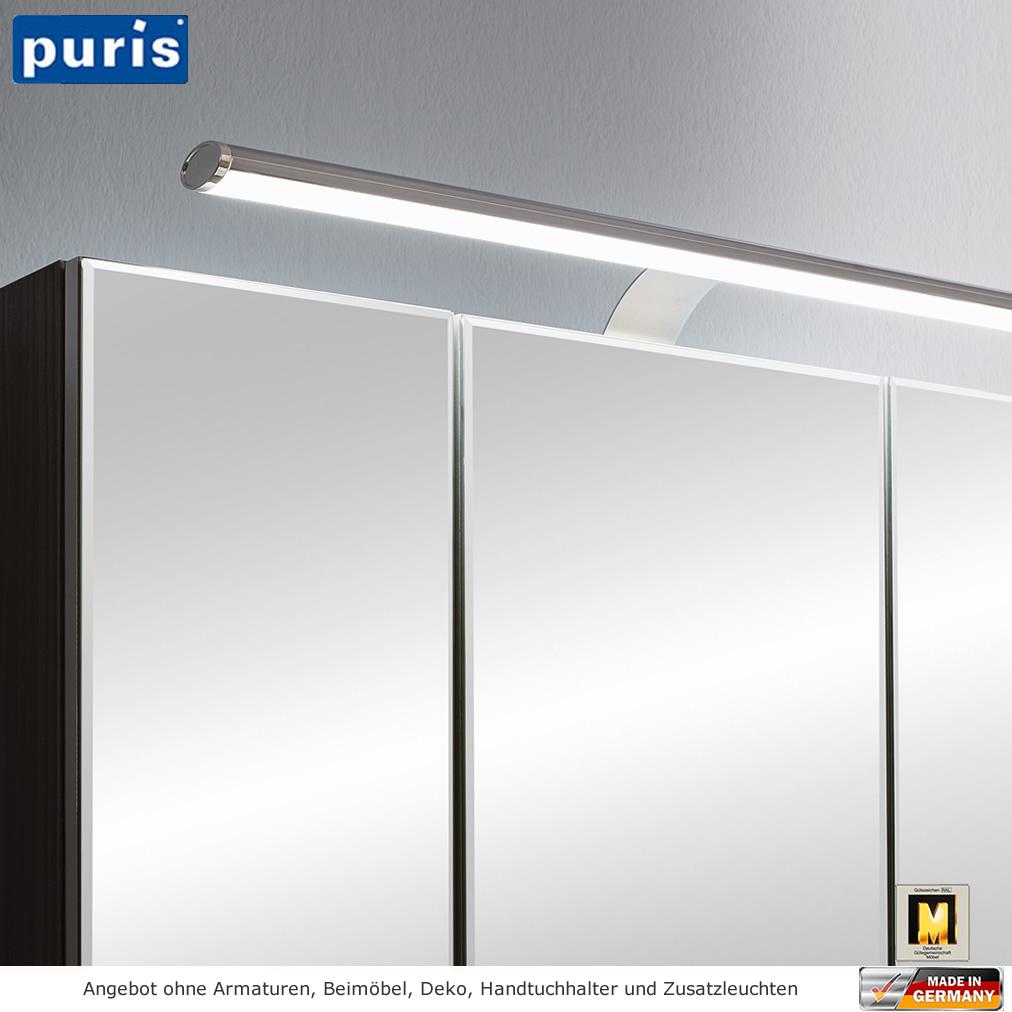 Puris vuelta spiegelschrank mit led aufbauleuchte 120 cm for Spiegelschrank 120