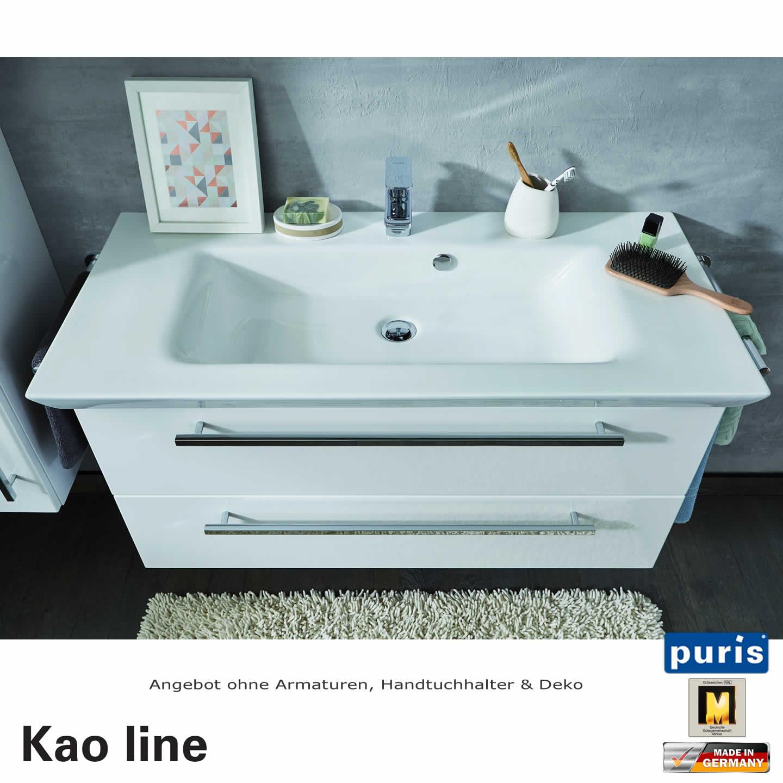 puris kao line waschtisch set 100 cm impulsbad. Black Bedroom Furniture Sets. Home Design Ideas
