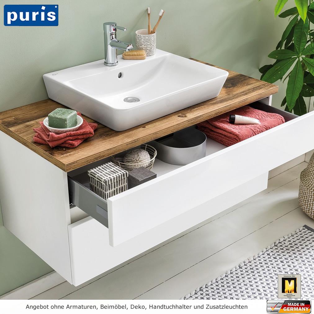 Puris Zoom Waschtischset Mit Aufsatzwaschtisch 100 Cm Impulsbad