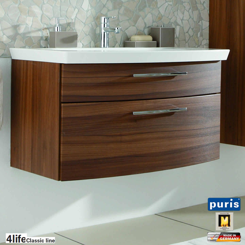 puris classic line badm bel als waschtisch set 90 cm 2 ausz ge impulsbad. Black Bedroom Furniture Sets. Home Design Ideas