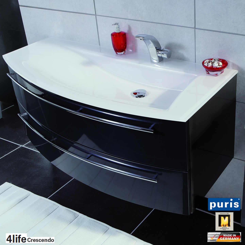 puris crescendo badm bel als waschtisch set 120 cm glas links schmal impulsbad. Black Bedroom Furniture Sets. Home Design Ideas