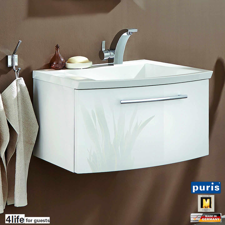 puris for guests waschtisch set 60 cm breite schmale seite links impulsbad. Black Bedroom Furniture Sets. Home Design Ideas