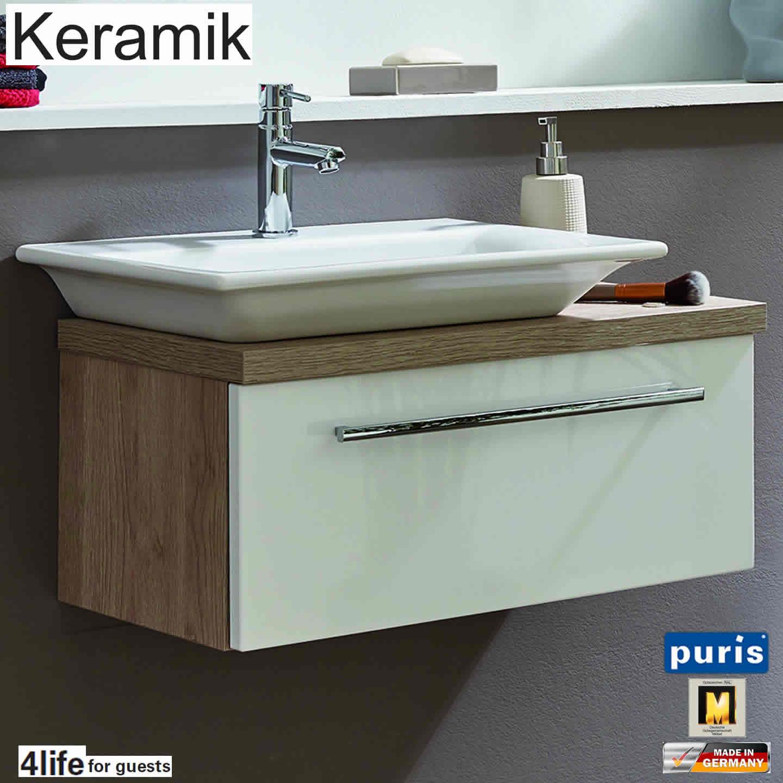 Puris for guests keramik waschtisch set 65 cm breite for Badezimmer 65 cm breite