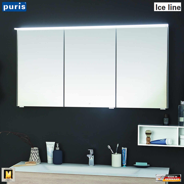 Puris ICE LINE Badmöbel Set 120 cm mit Doppelwaschtisch und ...