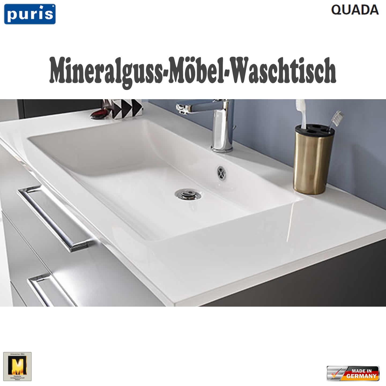 puris quada waschtisch set 120 cm mit mineralguss doppel waschtisch impulsbad. Black Bedroom Furniture Sets. Home Design Ideas