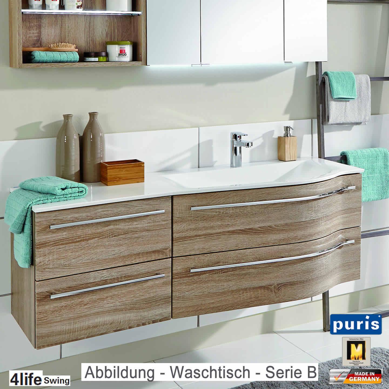 puris 4life swing badmöbel als waschtisch-set 140 cm - serie a, Badezimmer ideen