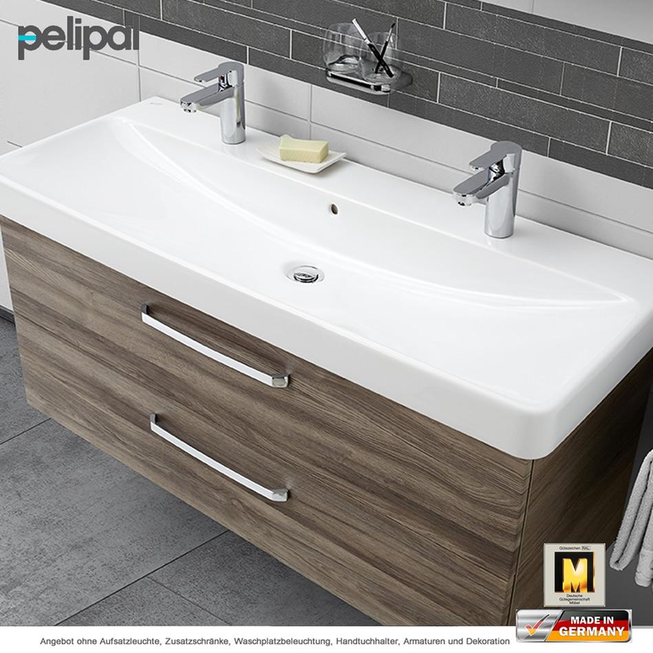 pelipal solitaire 9005 waschtischset 120 cm keramag doppelwaschtisch und unterschrank mit 2. Black Bedroom Furniture Sets. Home Design Ideas