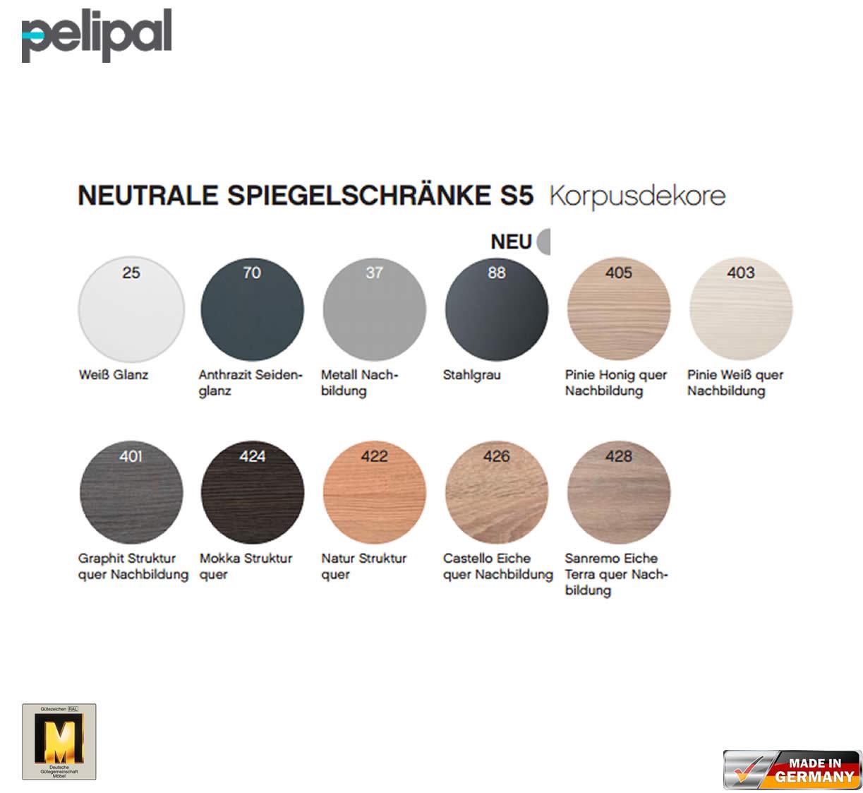 pelipal neutraler spiegelschrank s5 150 cm mit 2 led aufbauleuchten impulsbad. Black Bedroom Furniture Sets. Home Design Ideas