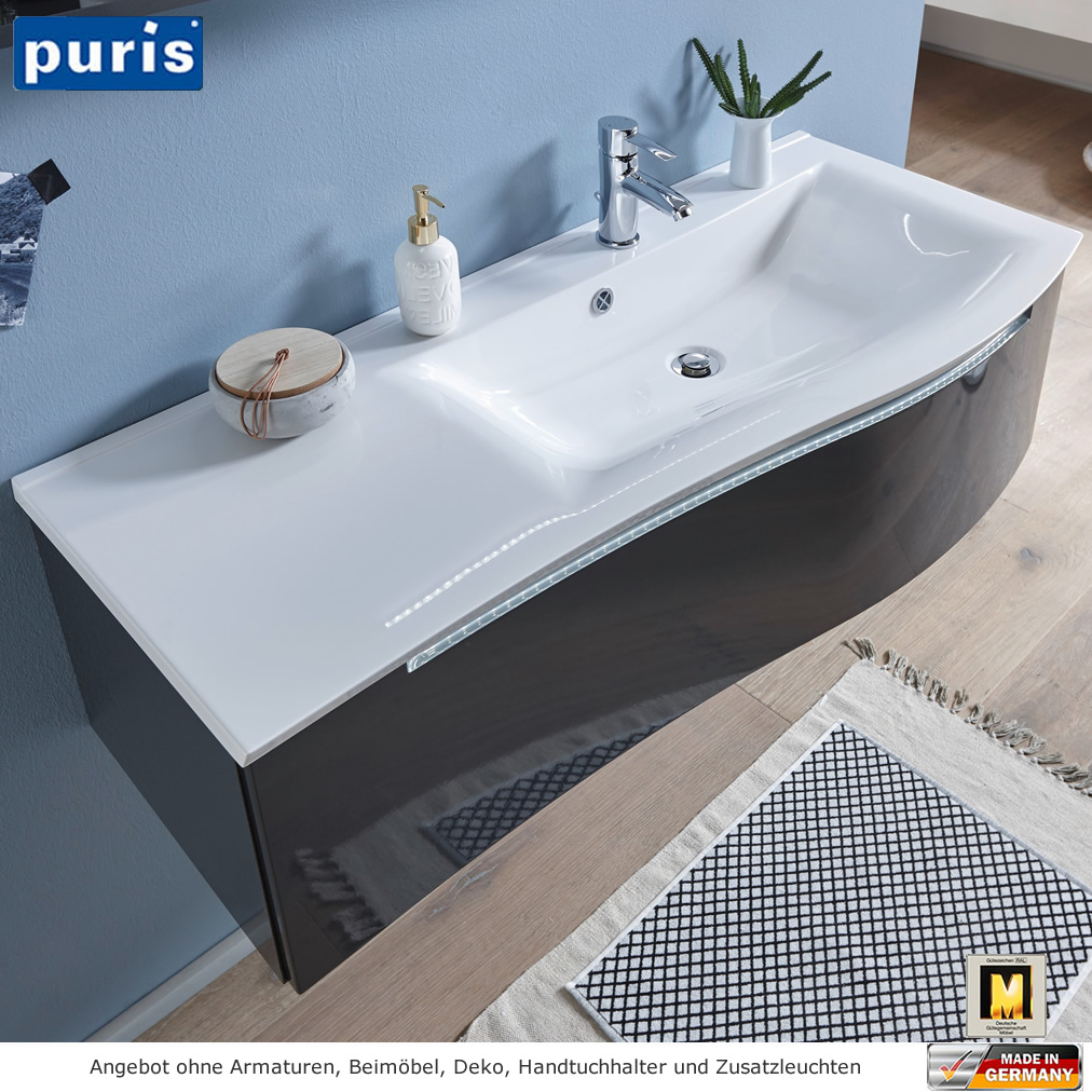 puris purefaction waschtisch set 120 cm links version impulsbad. Black Bedroom Furniture Sets. Home Design Ideas