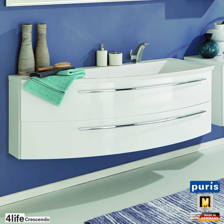 puris crescendo badm bel als waschtisch set 140 cm mineralguss links schmal impulsbad. Black Bedroom Furniture Sets. Home Design Ideas