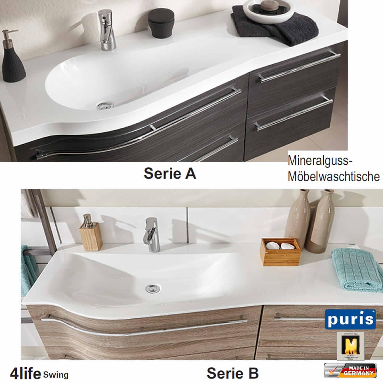 puris 4life swing badmöbel als waschtisch-set 120 cm - serie a, Badezimmer ideen