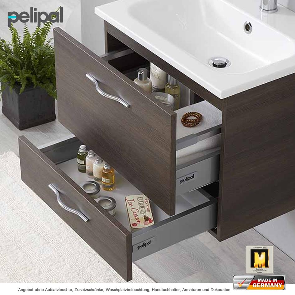 Pelipal Badmöbel Solitaire 6110 als Set 60 cm mit Spiegelschrank und ...