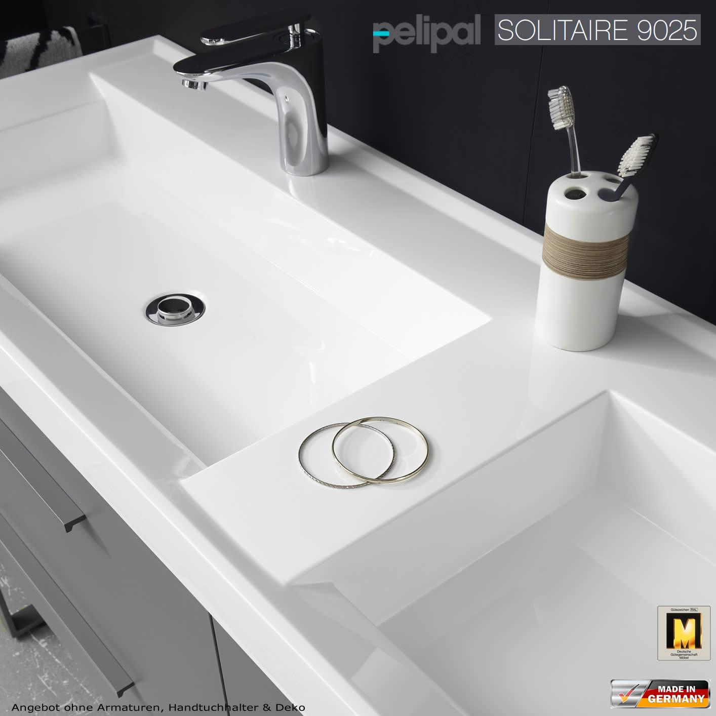 Pelipal solitaire 9025 waschtisch set 160 cm breite for Doppelwaschbecken 160 cm