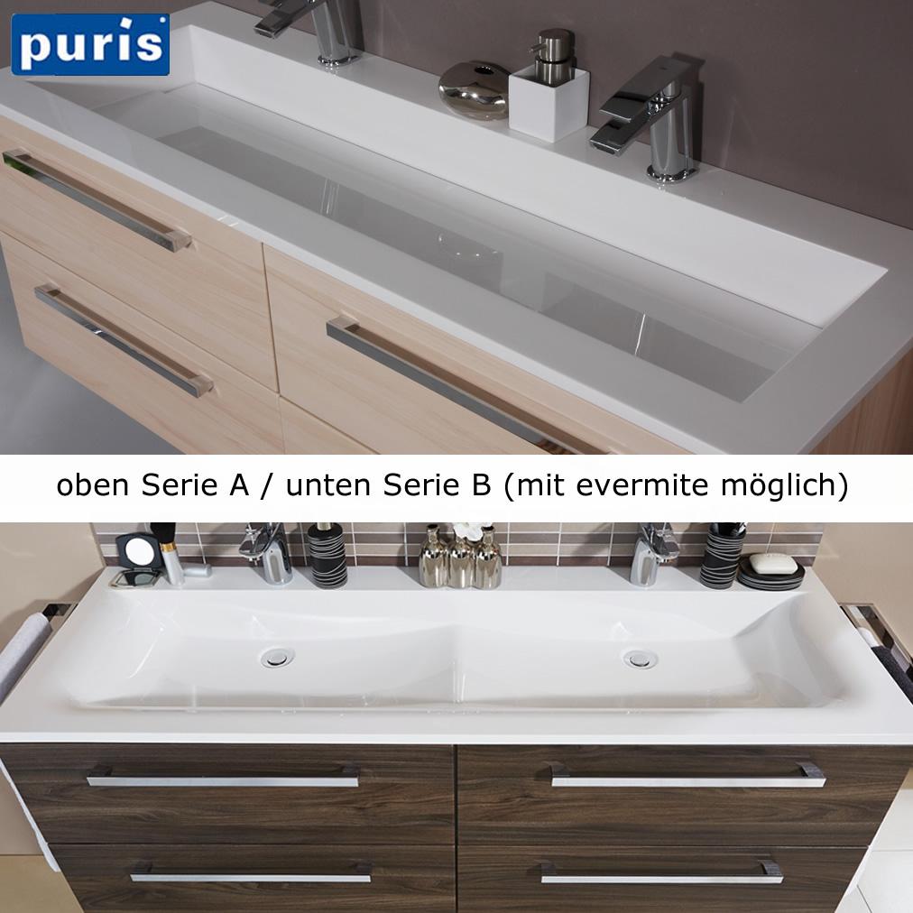 puris star line badm bel als waschtisch set mit doppelwaschtisch 160 cm serie b impulsbad. Black Bedroom Furniture Sets. Home Design Ideas