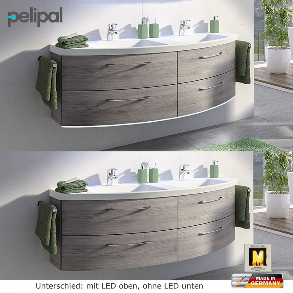 pelipal cassca badm belset 140 cm mit spiegelschrank und waschtischset mit 2 ausz gen 2 t ren. Black Bedroom Furniture Sets. Home Design Ideas