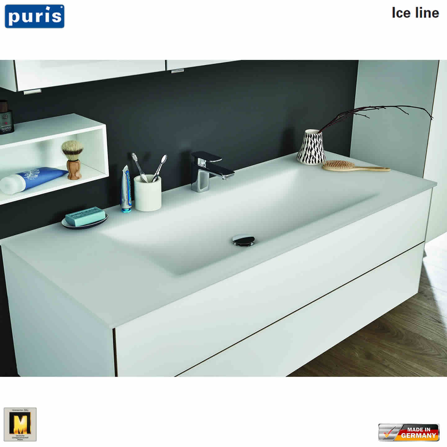 puris ice line waschtisch set 120 cm mit glas waschtisch impulsbad. Black Bedroom Furniture Sets. Home Design Ideas